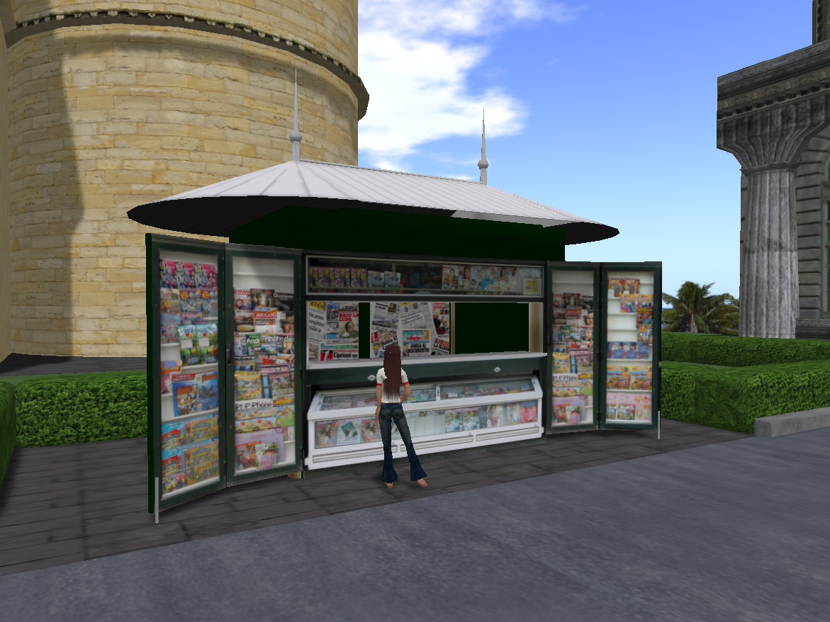 Kiosk at virtual Valencia
